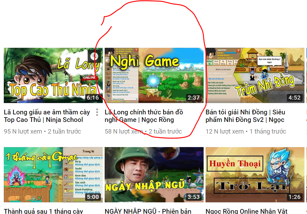 youtube game ngọc rồng online nghỉ game